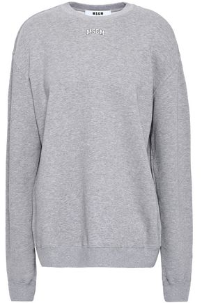 MSGM Printed French cotton-blend terry sweatshirt