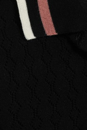 REDValentino Pointelle-knit wool top
