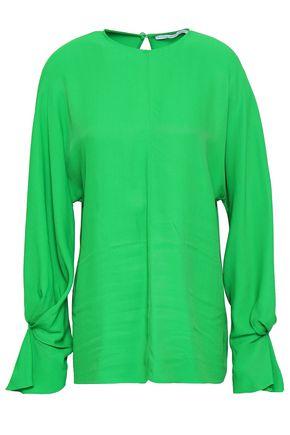 EMILIA WICKSTEAD Dahlia pleated twill blouse