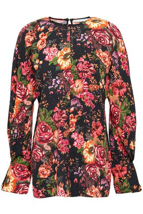 EMILIA WICKSTEAD Floral-print georgette top