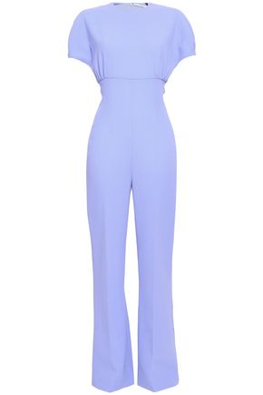 Cleopatra Flared Wool Crepe Jumpsuit by Emilia Wickstead