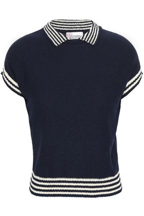 REDValentino Striped cotton-blend top