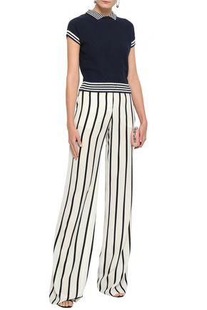 REDValentino Striped cotton-blend top