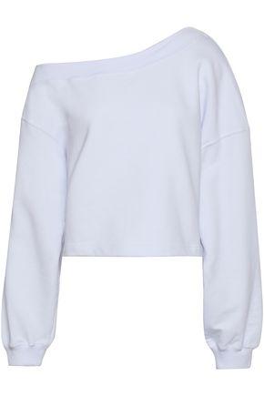 MSGM Printed French cotton-terry sweatshirt