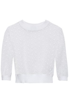 REDValentino Broderie anglaise cotton top