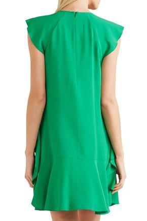 REDValentino Ruffled satin-crepe mini dress