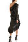 PHILOSOPHY di LORENZO SERAFINI One-shoulder metallic silk-blend jacquard dress
