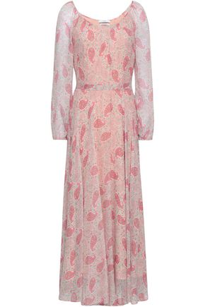 CO Printed silk-crepon maxi dress