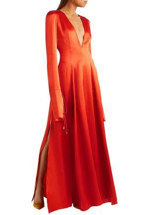 MICHAEL LO SORDO Victoria silk-satin maxi dress