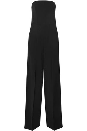 HALSTON HERITAGE Strapless cady jumpsuit