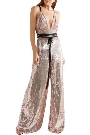 TEMPERLEY LONDON Sequined crepe jumpsuit