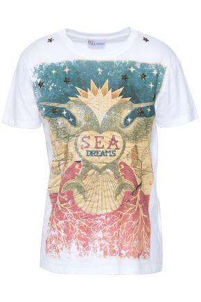 REDValentino Studded printed cotton-jersey T-shirt