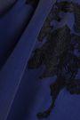 HAUTE HIPPIE Cold-shoulder lace-trimmed silk crepe de chine top