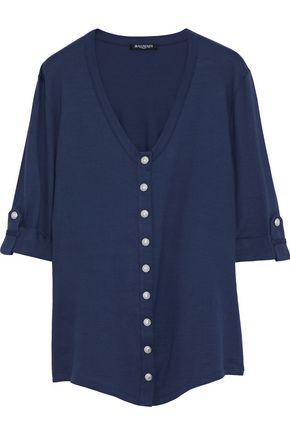BALMAIN Button-detailed cotton-jersey top