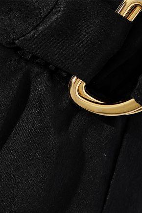 BALMAIN Silk-satin shorts