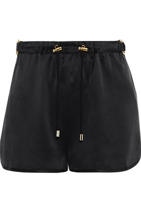 BALMAIN Silk-satin shorts
