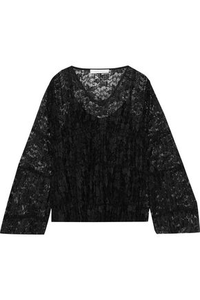 SEE BY CHLOÉ Plissé-lace top