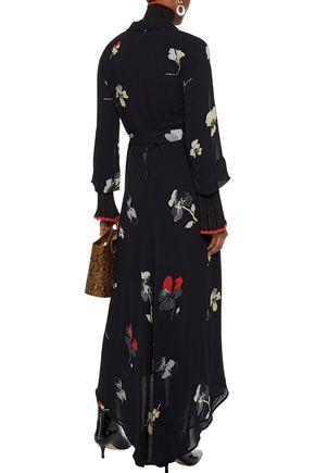 GANNI Lorita floral-print georgette maxi wrap dress