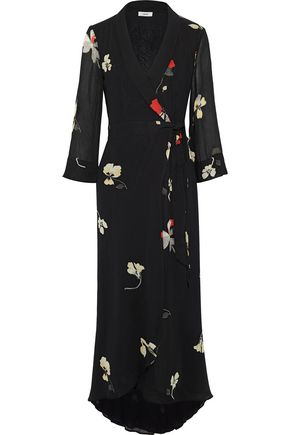 GANNI Lorita floral-print georgette maxi wrap dress