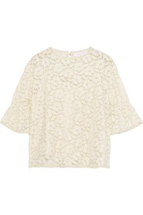 SEE BY CHLOÉ Cotton-blend lace blouse