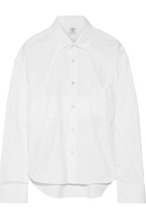 VETEMENTS Striped cotton-poplin shirt