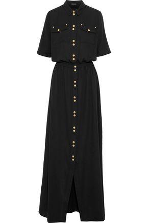 BALMAIN Cotton-gauze maxi shirt dress