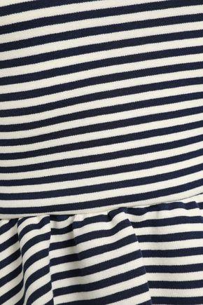 REDValentino Striped stretch-jersey top