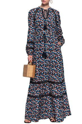 15853484d4a8d TORY BURCH Printed cotton and silk-blend maxi dress