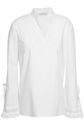 TORY BURCH Cotton-poplin top