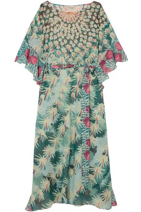 TEMPERLEY LONDON Printed jacquard kaftan