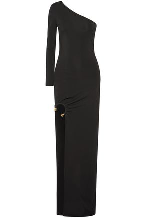 HANEY One-shoulder stretch-jersey maxi dress