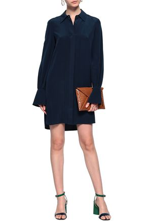 adfbce511 TORY BURCH Silk crepe de chine mini shirt dress