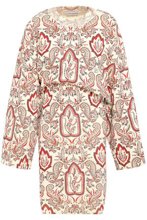 PACO RABANNE Printed cotton-blend mini dress