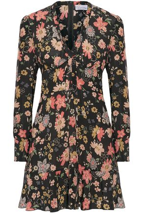 REDValentino Floral-print silk crepe de chine mini dress