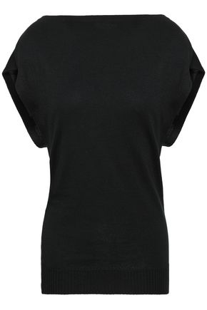 PACO RABANNE Draped knitted top