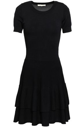 MAJE Tiered knitted mini dress
