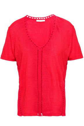 MAJE Slub linen jersey T-shirt