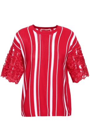MAJE Intarsia-knit top