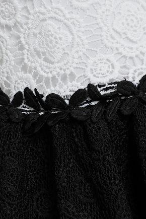 MAJE Two-tone guipure lace mini dress