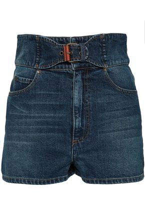 REDValentino Belted denim shorts