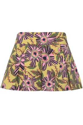 REDValentino Floral-print cotton-blend shorts
