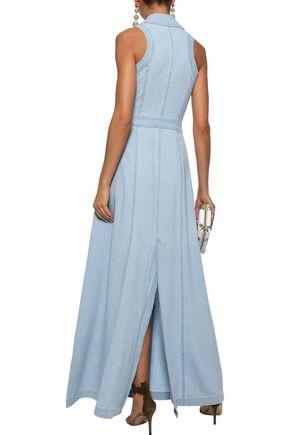BALMAIN Cotton-blend gauze maxi shirt dress
