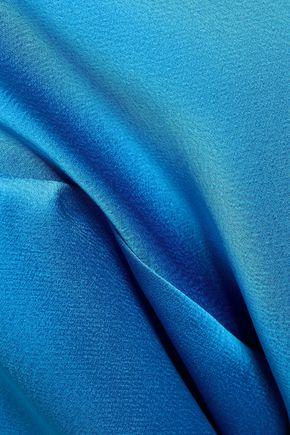 MSGM One-shoulder satin-crepe top