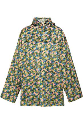 MSGM Floral-print shell hooded top