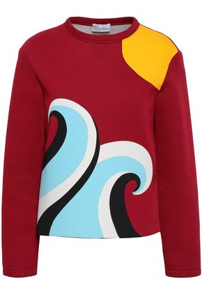REDValentino Color-block scuba sweatshirt