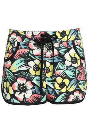 REDValentino Printed stretch-cotton shorts