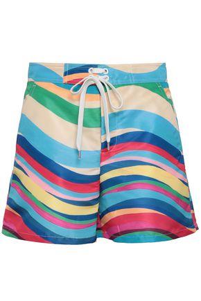 REDValentino Printed faille shorts