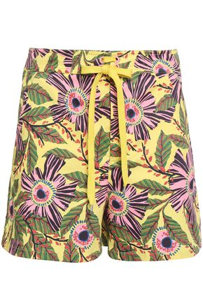 REDValentino Floral-print stretch-cotton shorts