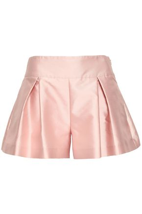 REDValentino Pleated twill shorts