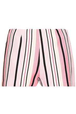 REDValentino Striped canvas shorts